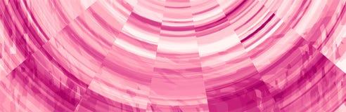 Abstracte Purpere Roze Bannerkopbal Stock Illustratie