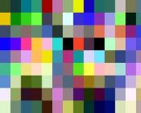 Abstracte purpere roze geelgroene vierkante vormen, grafiek, meetkunde, achtergrond en textuur royalty-vrije illustratie