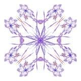 Abstracte purple isoleerde bloemenpatroon vector illustratie