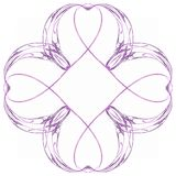 Abstracte purple isoleerde bloemenpatroon royalty-vrije illustratie