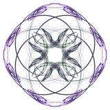 Abstracte purple isoleerde bloemenpatroon stock illustratie