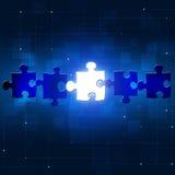 Abstracte Raadsel Bedrijfsconceptenachtergrond Royalty-vrije Stock Afbeelding