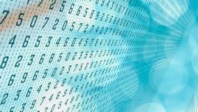 Abstracte random numbers 0-9, concept van computer het grote gegevens royalty-vrije illustratie