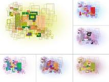 Abstracte rechthoek gebaseerde achtergrond Stock Afbeeldingen