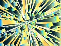 Abstracte rechthoekblokken in perspectief royalty-vrije illustratie