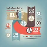 Abstracte reeks infographic op groepswerk in zaken Stock Afbeeldingen