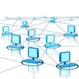 Abstracte Regeling van Modern Computernetwerk Stock Foto