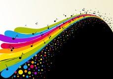 Abstracte regenboog en muziek Stock Foto