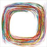 Abstracte regenboog gebogen het kaderachtergrond van de strepenrassenbarrière Stock Foto's