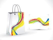 Abstracte regenboog het winkelen zak Stock Fotografie