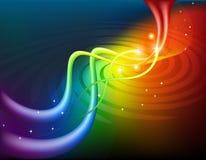 Abstracte regenboogachtergrond Stock Foto