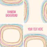 Abstracte regenboogachtergrond. Malplaatje voor uw ontwerp. Naadloos Royalty-vrije Stock Foto