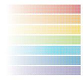 Abstracte regenboogbaners Royalty-vrije Stock Afbeelding