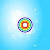 Abstracte regenboogplaneet daarin `s atmosfeer Stock Fotografie