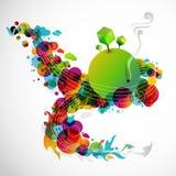 Abstracte regenboogwereld Stock Afbeeldingen
