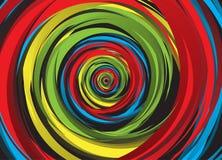 Abstracte regenboogwerveling vector illustratie