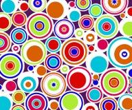 Abstracte retro cirkels stock illustratie