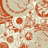 Abstracte retro cirkelsachtergrond vector illustratie