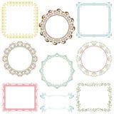 Abstracte retro frame geplaatste elementen Royalty-vrije Stock Afbeeldingen