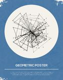 Abstracte Retro Geometrische Achtergrond. stock illustratie