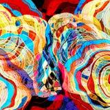 Abstracte retro multicolored achtergrond stock illustratie