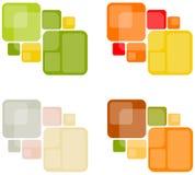 Abstracte Retro Vierkante Achtergronden Stock Afbeelding