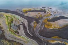 Abstracte riviermonding Stock Fotografie
