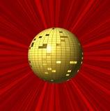 Abstracte rode achtergrond en bal Royalty-vrije Stock Fotografie