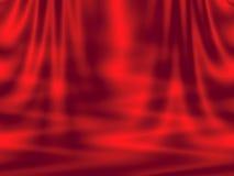 Abstracte rode achtergrond - gordijn en golven Stock Afbeelding