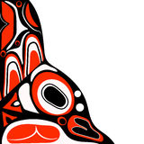 Abstracte rode achtergrond inheemse Noord-Amerikaan Stock Foto