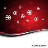 Abstracte rode achtergrond met pijlen royalty-vrije illustratie