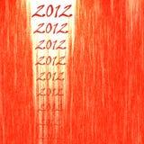 abstracte rode backgoround van 2012 Royalty-vrije Stock Foto