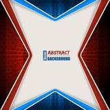 Abstracte rode blauwe brochure met strepen en sterren Royalty-vrije Stock Foto