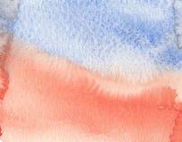 Abstracte rode blauwe de texturenachtergrond van de texturenwaterverf Stock Foto