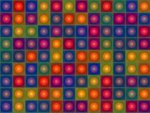 Abstracte rode blauwe oranje groene gele eigentijdse achtergrond Stock Afbeeldingen