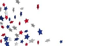 Abstracte rode, blauwe, witte sterren als achtergrond royalty-vrije illustratie