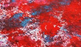Abstracte rode blauwe zachte contrasten, de achtergrond van de verfwaterverf, abstracte het schilderen waterverfachtergrond stock foto's