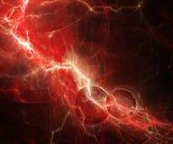 Abstracte rode bliksem Stock Foto