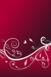 Abstracte rode bloemachtergrond vector illustratie