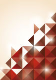 Abstracte rode driehoeksachtergrond Royalty-vrije Stock Fotografie