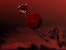 Abstracte rode droom Stock Afbeeldingen