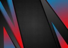 Abstracte rode en blauwe collectieve technologie-achtergrond Royalty-vrije Stock Afbeeldingen