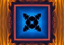 Abstracte rode en gele caleidoscoop Royalty-vrije Stock Afbeeldingen