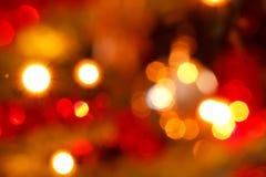 Abstracte rode en gele Kerstmisachtergrond Stock Fotografie