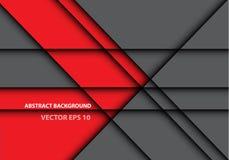 Abstracte rode grijze van het de textuurontwerp van de lijnschaduw moderne futuristische vector als achtergrond Royalty-vrije Stock Afbeeldingen