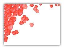 Abstracte rode hartenachtergrond stock illustratie