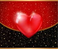 Abstracte rode hartillustratie Stock Afbeeldingen