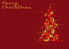Abstracte rode Kerstmisboom Stock Fotografie