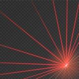 Abstracte rode laserstraal stock illustratie