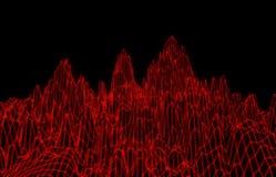 Abstracte rode netwerkbergen Royalty-vrije Stock Foto